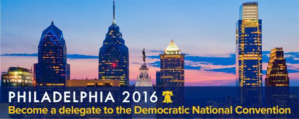 Become a delegate to the DNC Convention